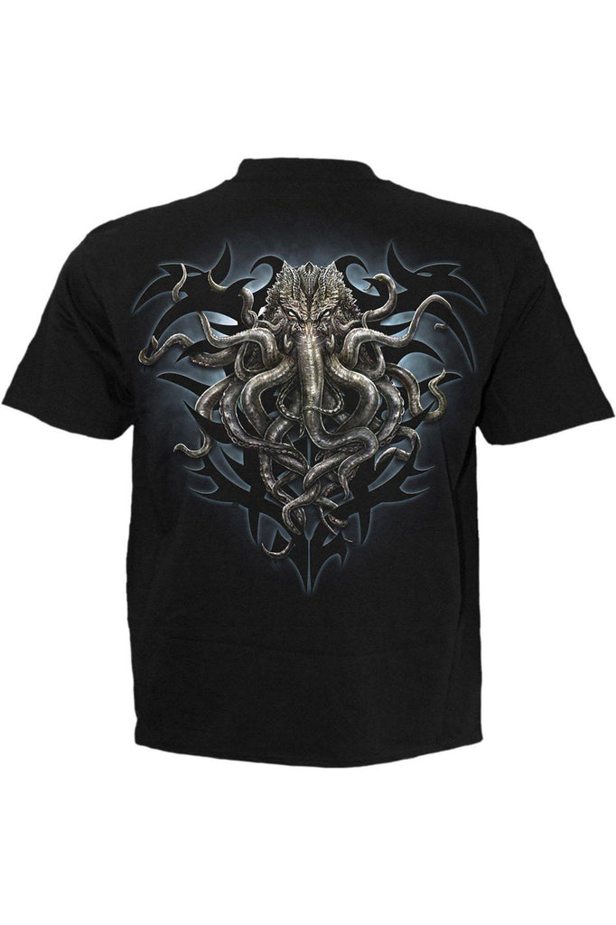 Cthulhu - T-Shirt Black-Spiral-Dark Fashion Clothing