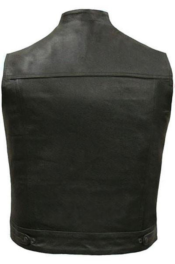 Cut-Off Outlaw Biker Vest - Jax-Skintan Leather-Dark Fashion Clothing