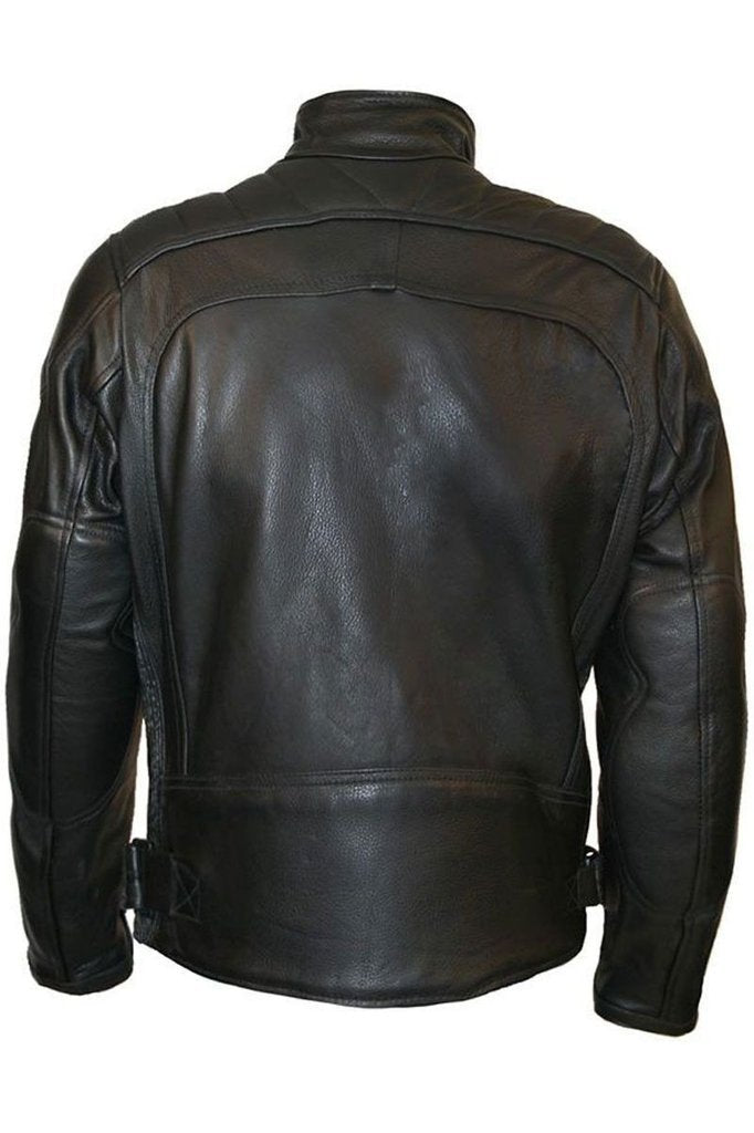 Daytona Biker Jacket-Skintan Leather-Dark Fashion Clothing