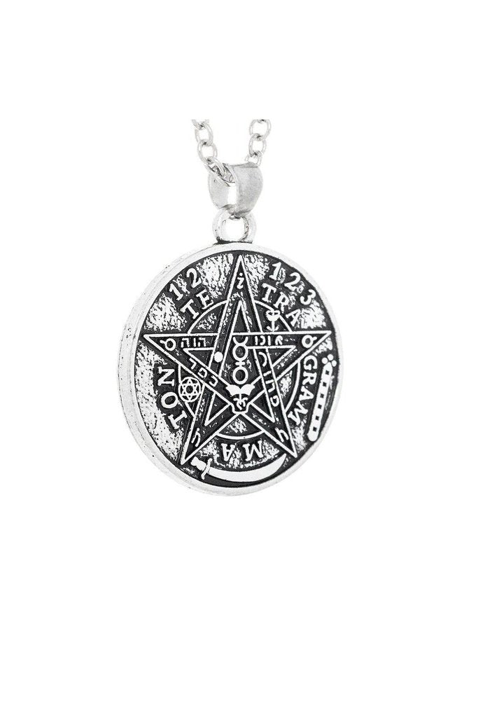 Divine Warrior Yahweh YHWH Tetragrammaton Pendant and Necklace - Jocelyn-Dr Faust-Dark Fashion Clothing