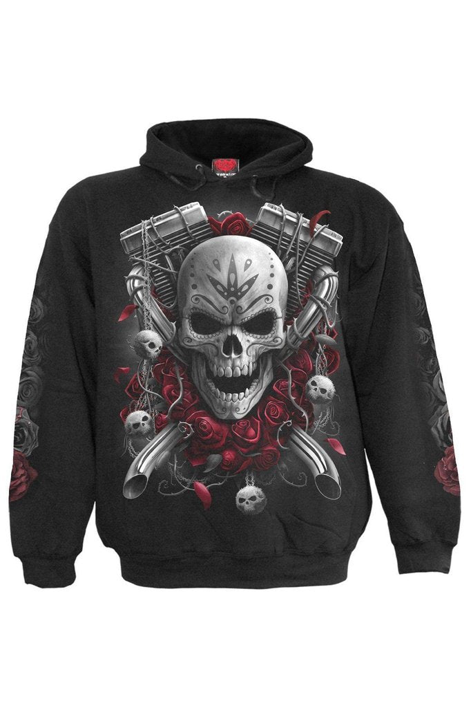 Dotd Bikers - Hoody Black-Spiral-Dark Fashion Clothing