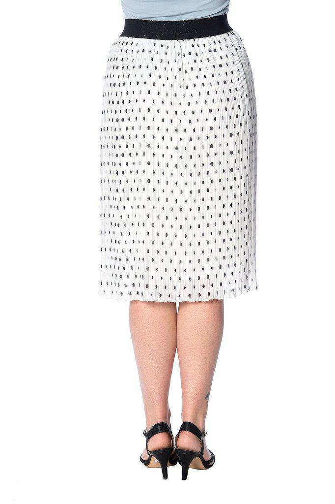 Dots About Spots Skirt-Banned-Dark Fashion Clothing