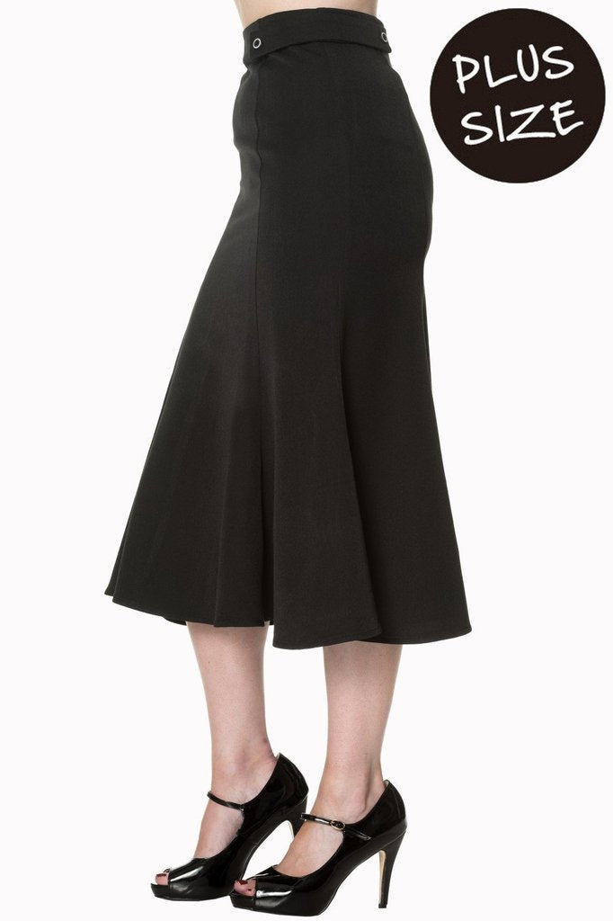 Elegance Personified Plus Size Skirt-Banned-Dark Fashion Clothing