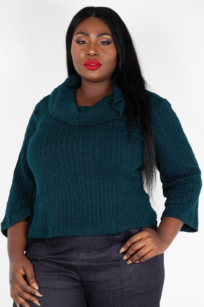 Elena Knitted Cowl Neck Sweater-Voodoo Vixen-Dark Fashion Clothing