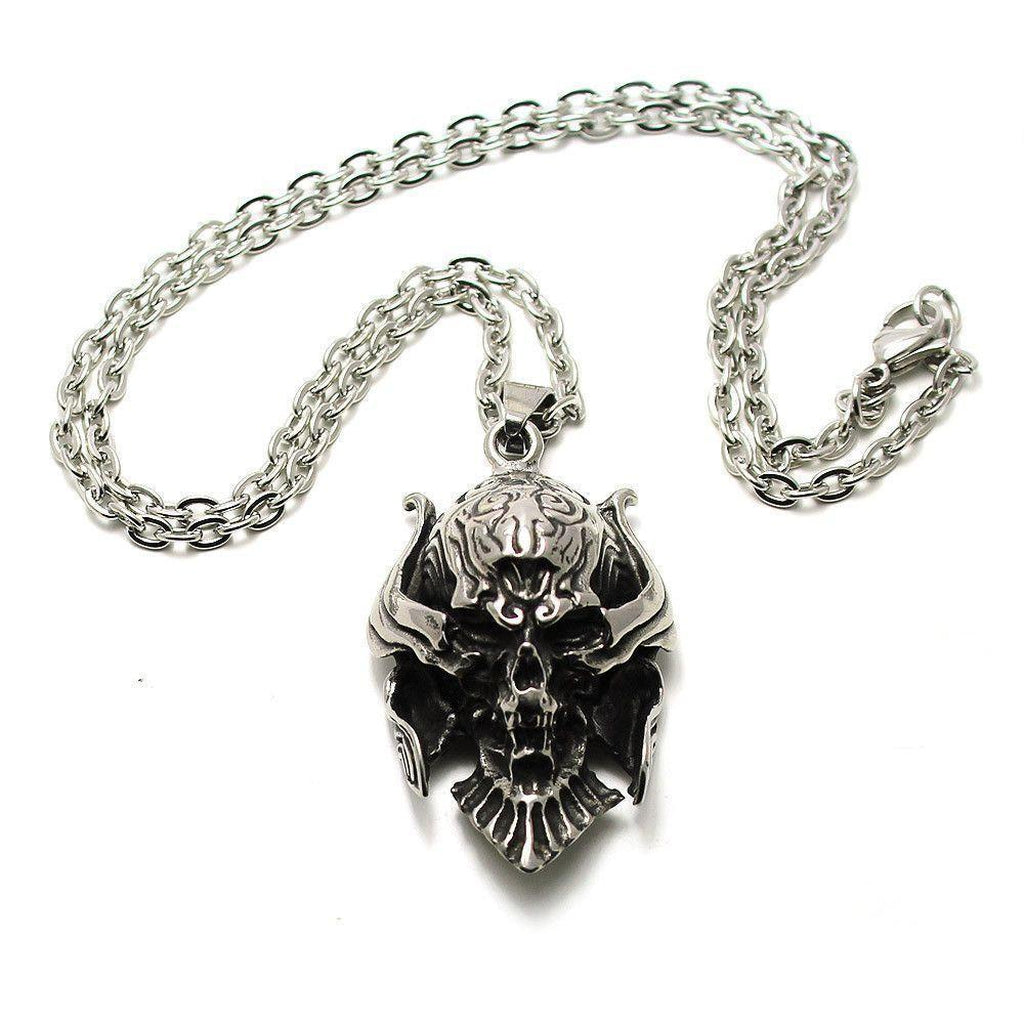Fearsome Skull Pendant - Stainless Steel-Badboy-Dark Fashion Clothing