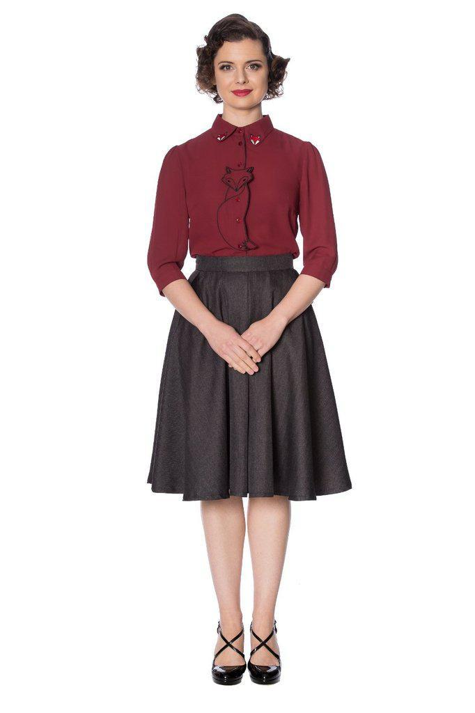 Foxy Skirt-Banned-Dark Fashion Clothing