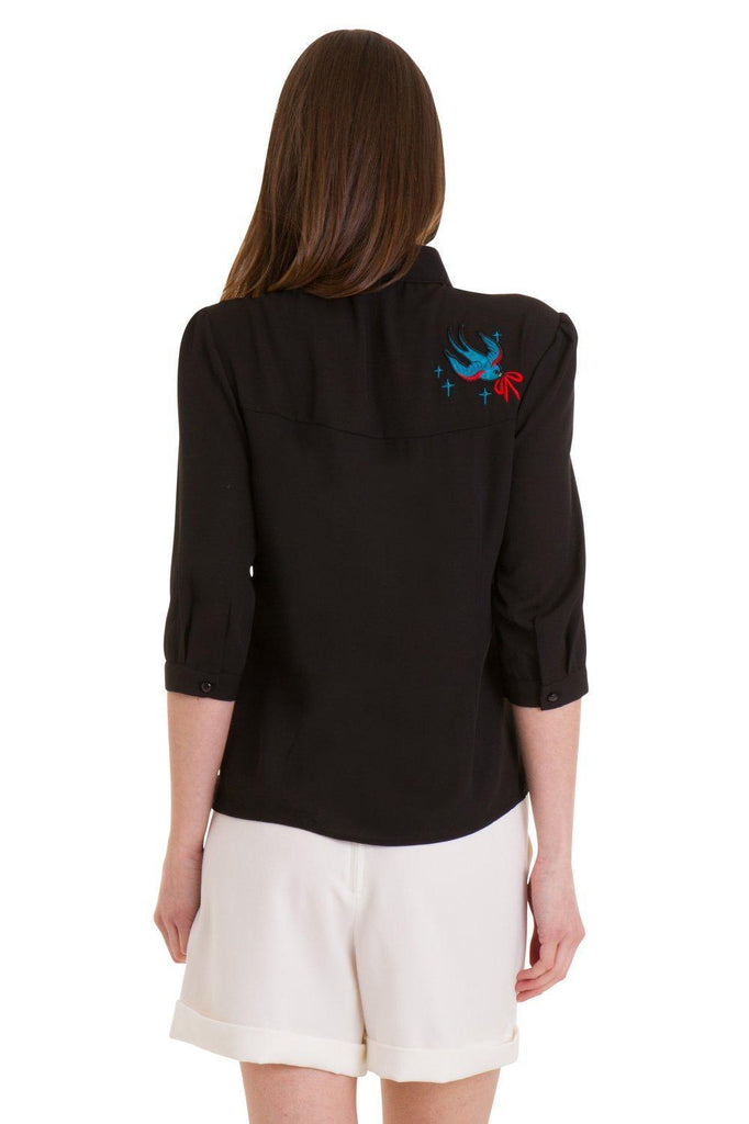 Free As A Bird Blouse-Banned-Dark Fashion Clothing