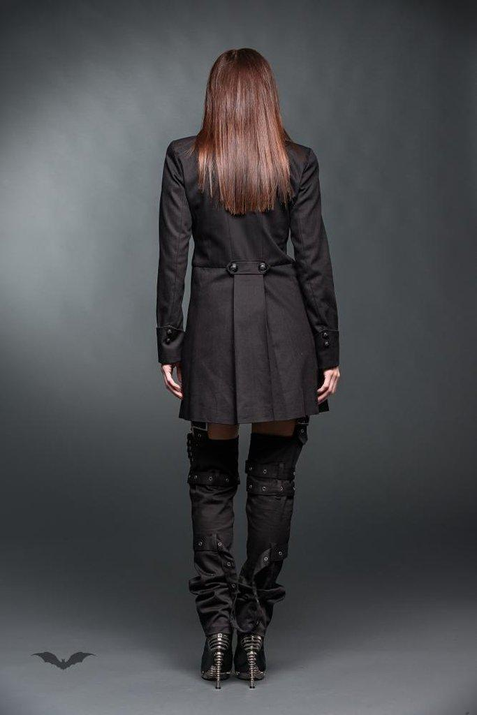 Frock Coat With Black Buttons-Queen of Darkness-Dark Fashion Clothing