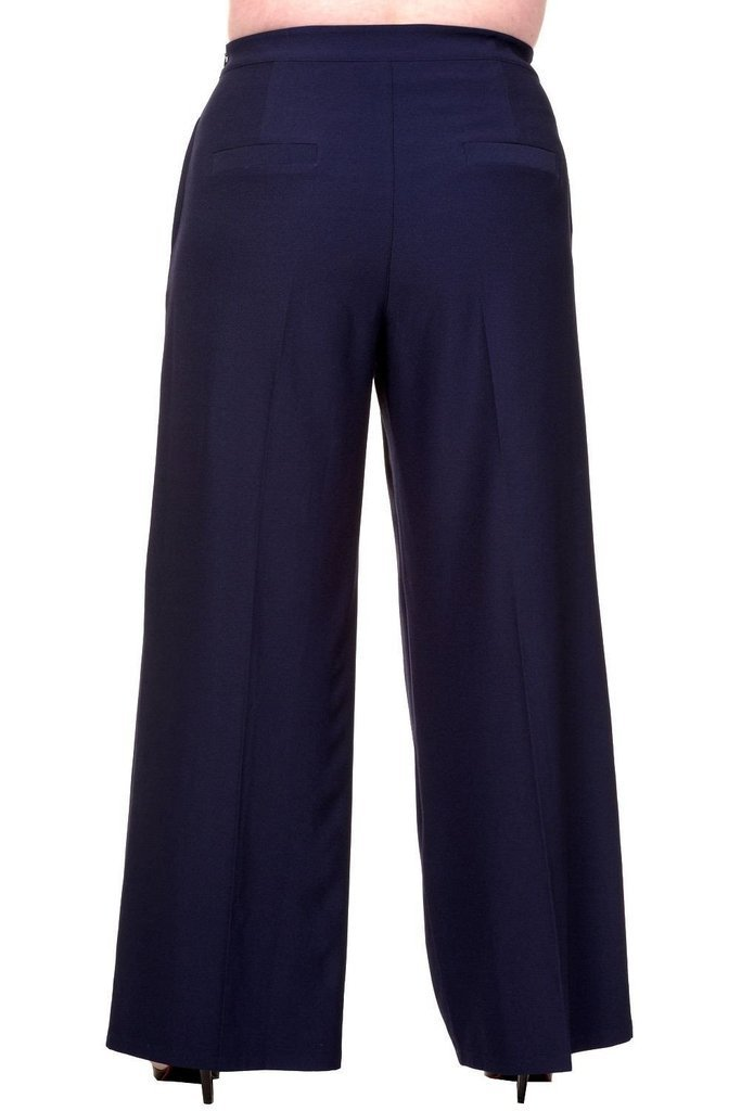 Full Moon Plus Size Trousers-Banned-Dark Fashion Clothing