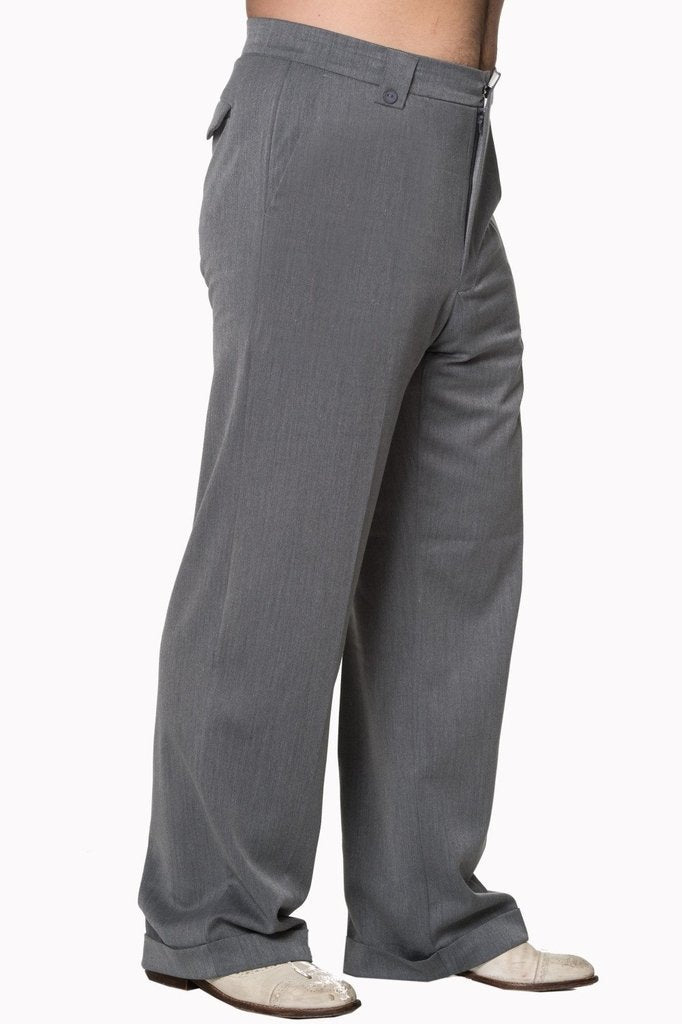 Get In Line Trouser-Banned-Dark Fashion Clothing