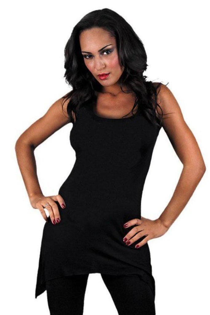 Gothic Elegance - Goth Bottom Camisole Dress Black-Spiral-Dark Fashion Clothing
