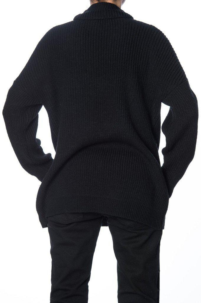 Grunge Goth Knitted Pullover-Banned-Dark Fashion Clothing