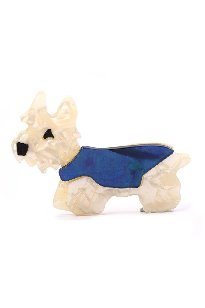 Hamish Scotty Dog Resin Brooch-Voodoo Vixen-Dark Fashion Clothing