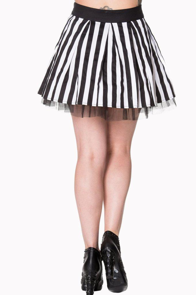 Heart To Heart Mini Skirt-Banned-Dark Fashion Clothing