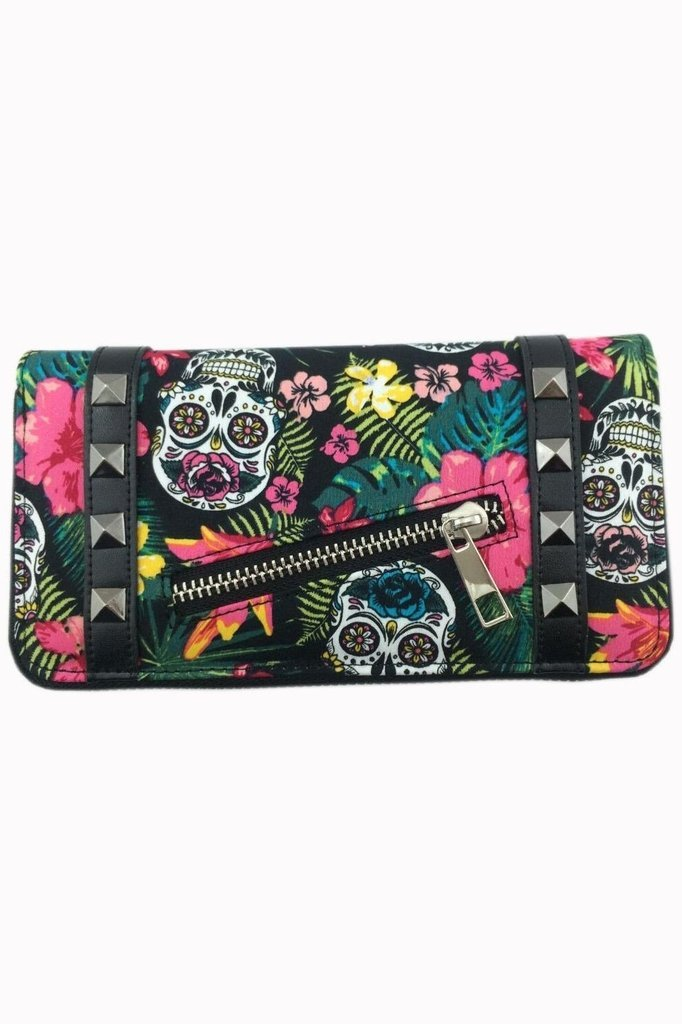Hibiscus Wallet-Banned-Dark Fashion Clothing
