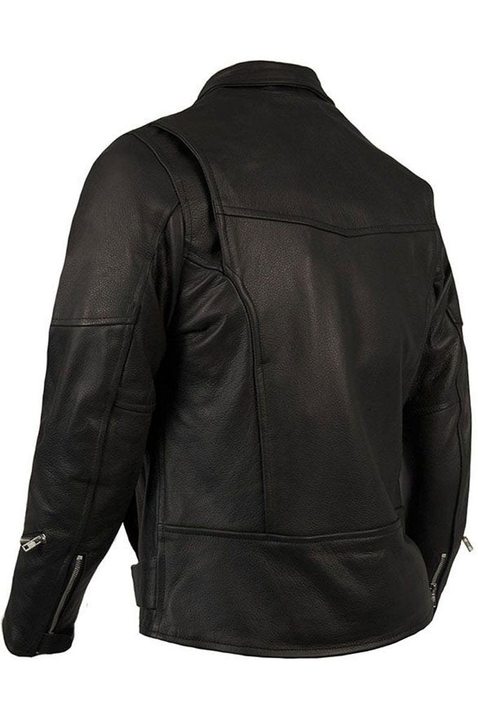 Highway Touring Biker Jacket-Skintan Leather-Dark Fashion Clothing