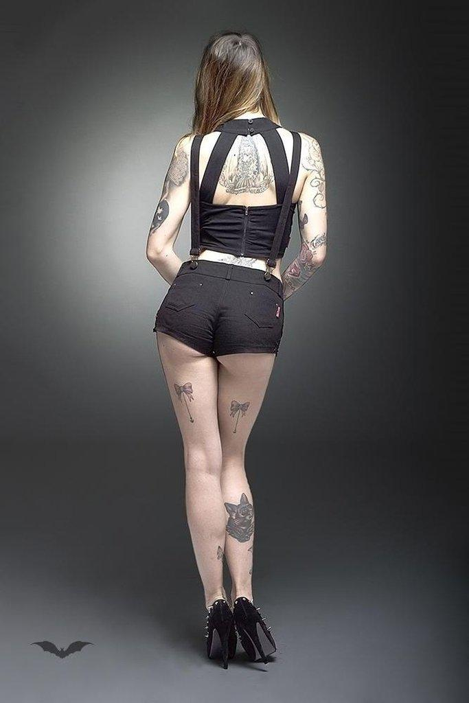 Hotpants With Straps-Queen of Darkness-Dark Fashion Clothing