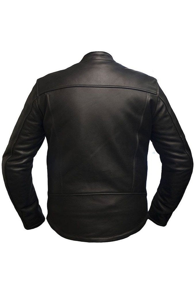 Hydra Biker Jacket-Skintan Leather-Dark Fashion Clothing