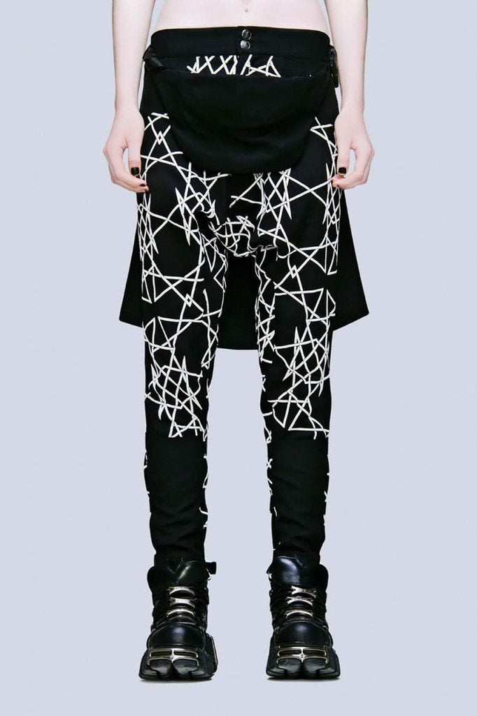 Infinity Clip Pants - Unisex-Long Clothing-Dark Fashion Clothing