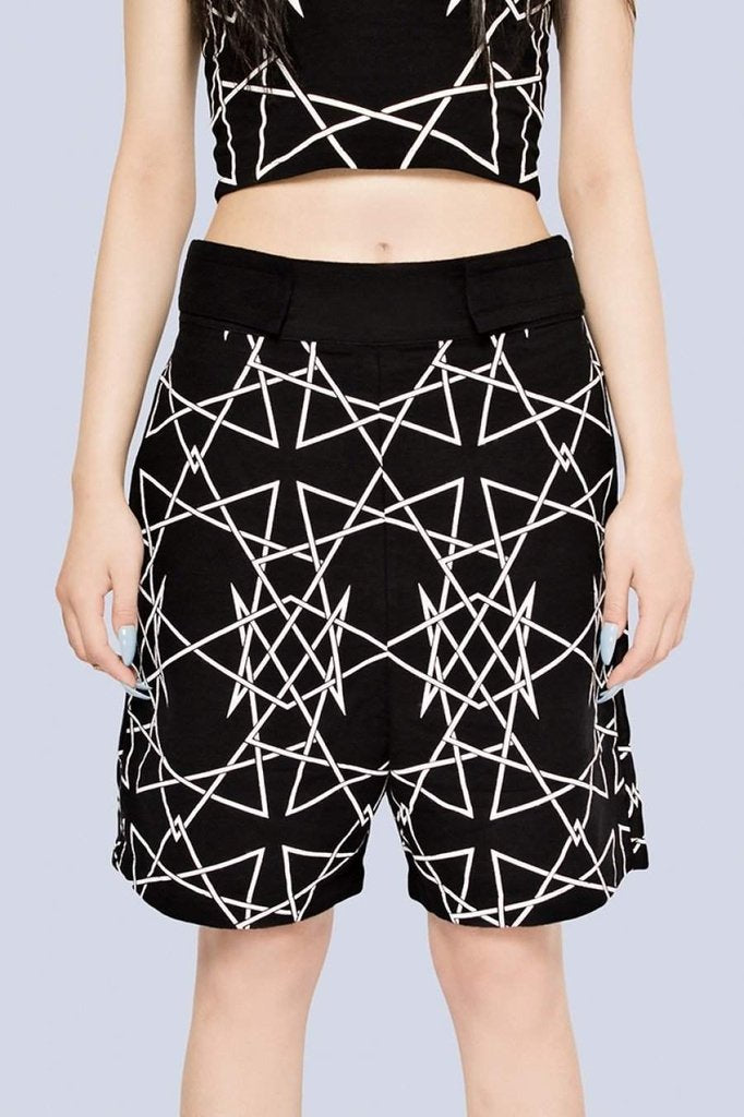 Infinity Shorts - Unisex-Long Clothing-Dark Fashion Clothing