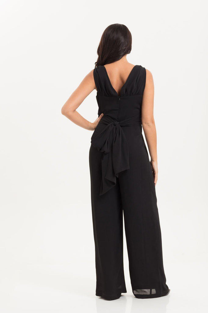 Isla Black Jumpsuit-Voodoo Vixen-Dark Fashion Clothing