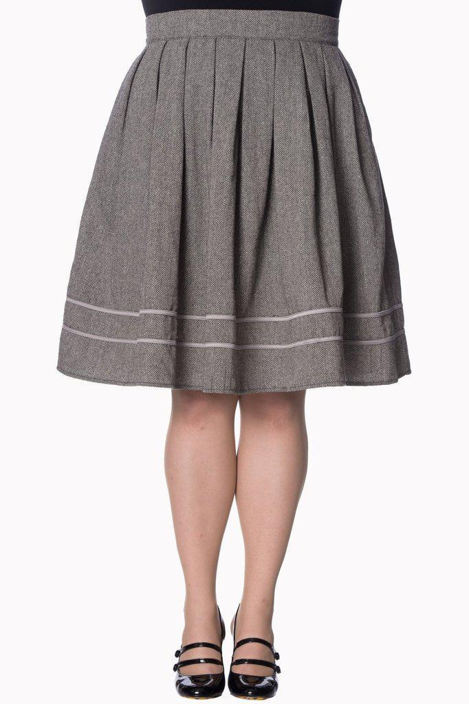 Izzy Plus Size Skirt-Banned-Dark Fashion Clothing