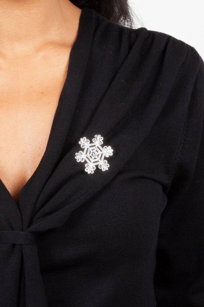 Jackie Frost Snowflake Brooch-Voodoo Vixen-Dark Fashion Clothing