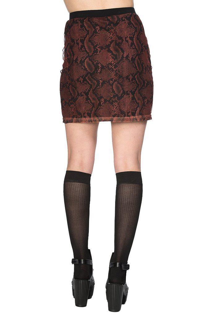Jersey And Snake Skirt-Banned-Dark Fashion Clothing