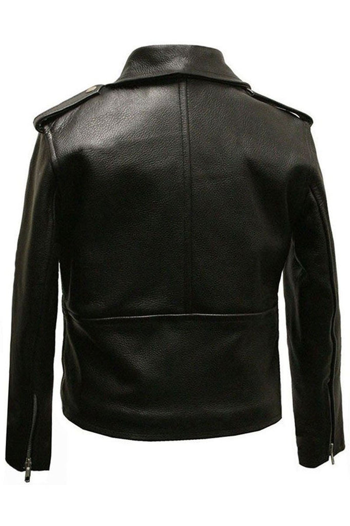Kids Brando Biker Jacket-Skintan Leather-Dark Fashion Clothing