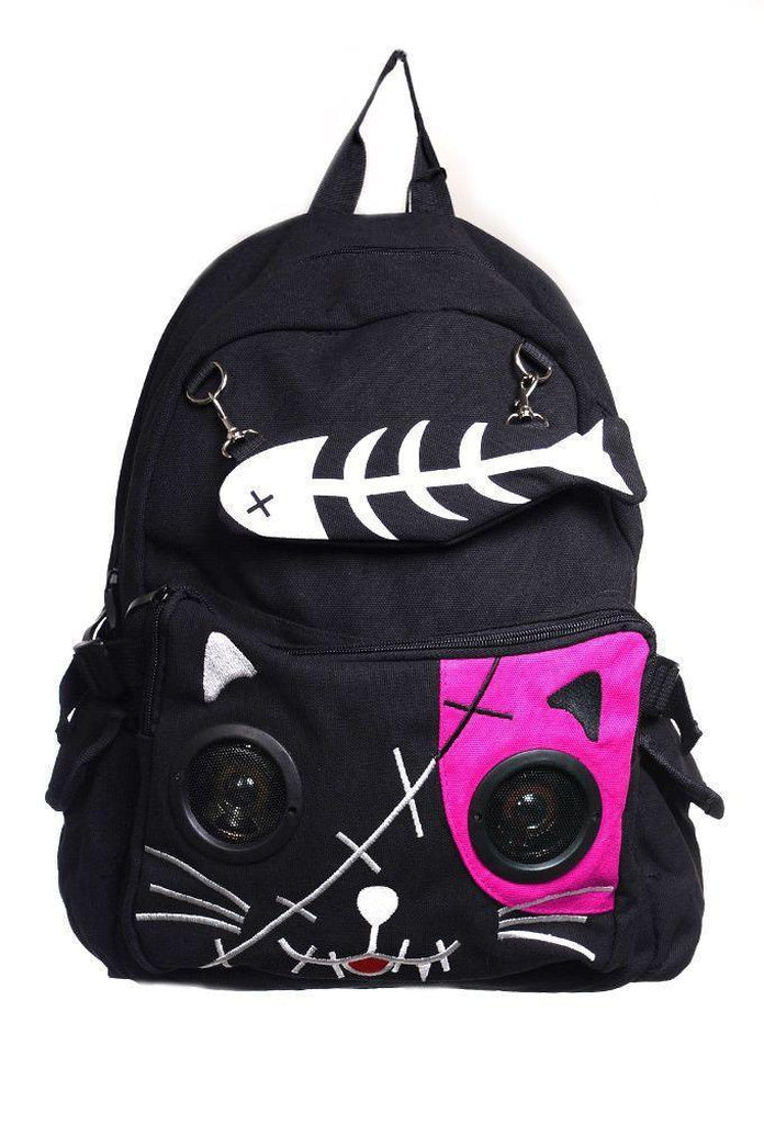Kitty Speaker Backpack-Banned-Dark Fashion Clothing