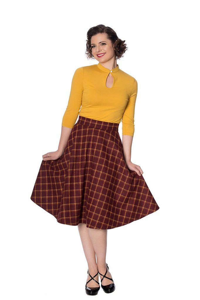 Ladies Day Swing Skirt-Banned-Dark Fashion Clothing