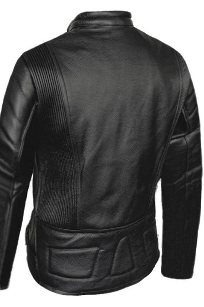 Ladies Limo Biker Jacket-Skintan Leather-Dark Fashion Clothing