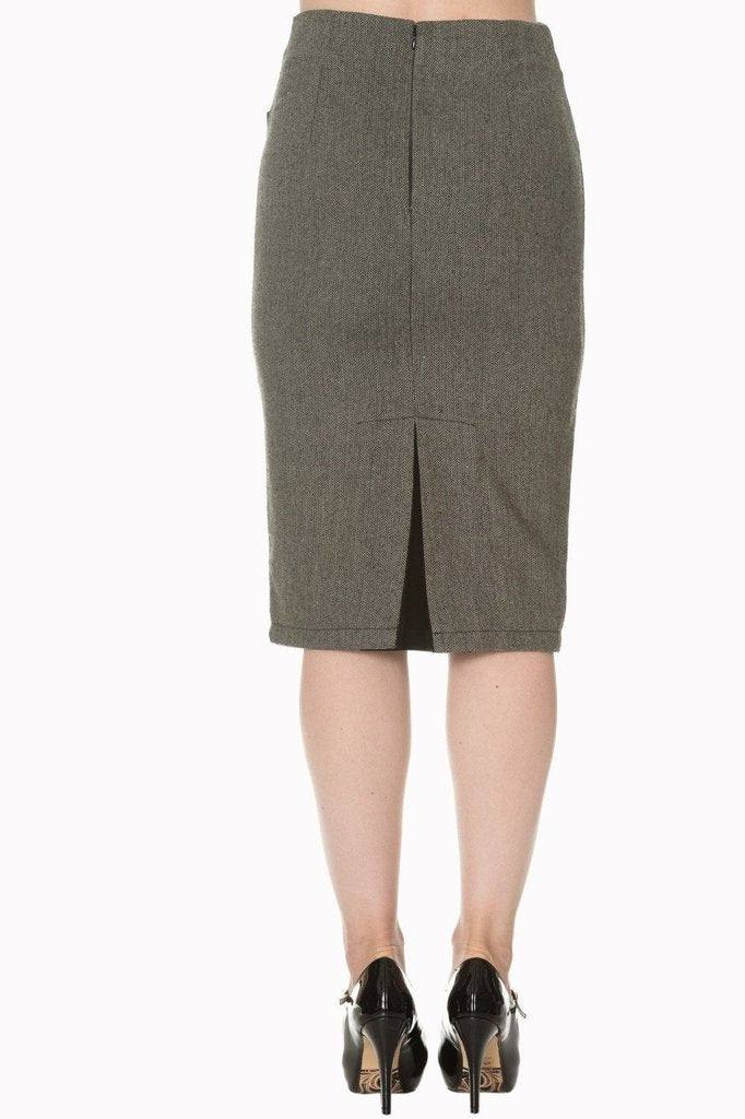 Lady Luck Pencil Skirt-Banned-Dark Fashion Clothing
