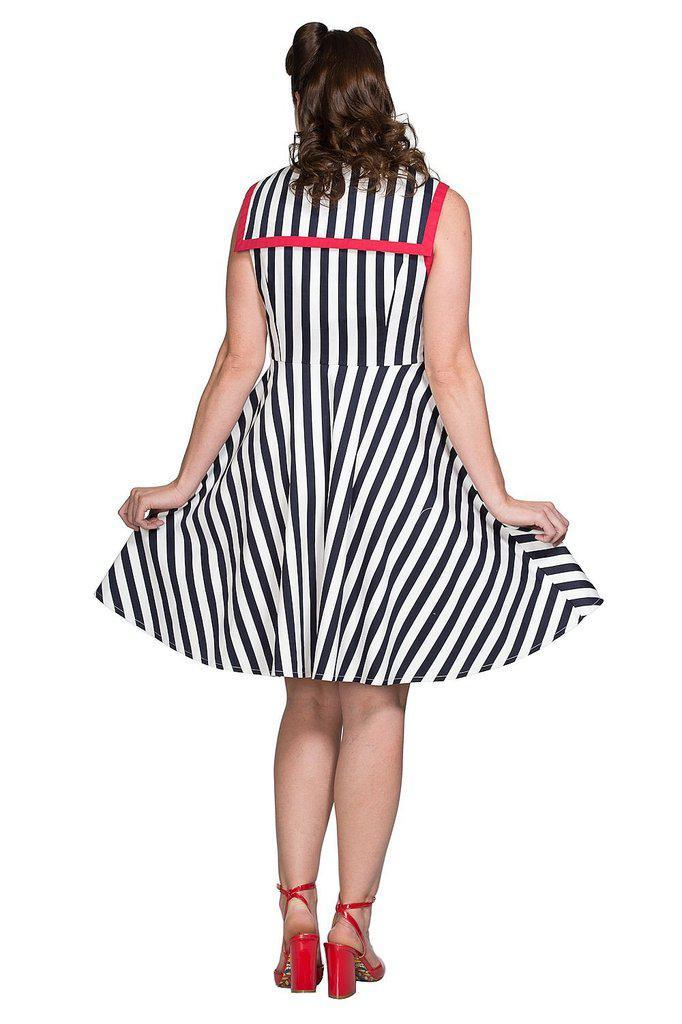 Land Ahoy Dress-Banned-Dark Fashion Clothing