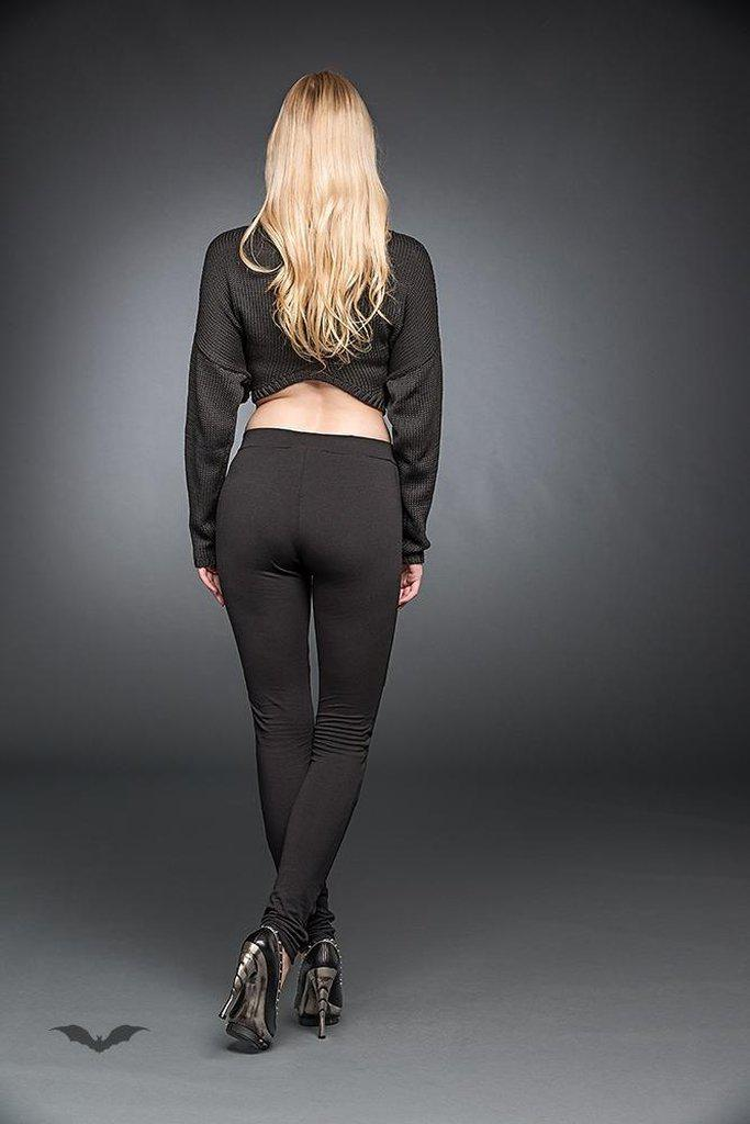 Leggings With Artificial Leather-Queen of Darkness-Dark Fashion Clothing