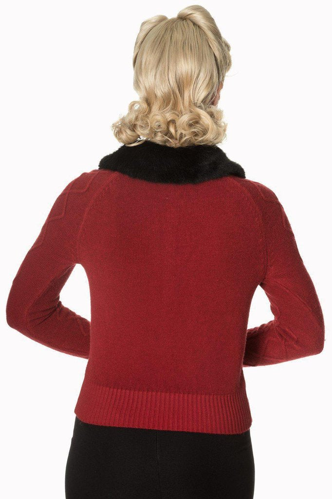 Lets Party Faux Fur Knit Cardigan-Banned-Dark Fashion Clothing