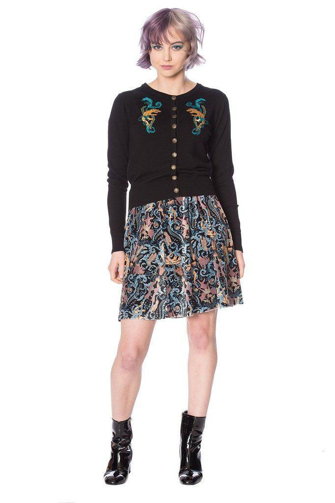 Liberty Dragons Skirt-Banned-Dark Fashion Clothing