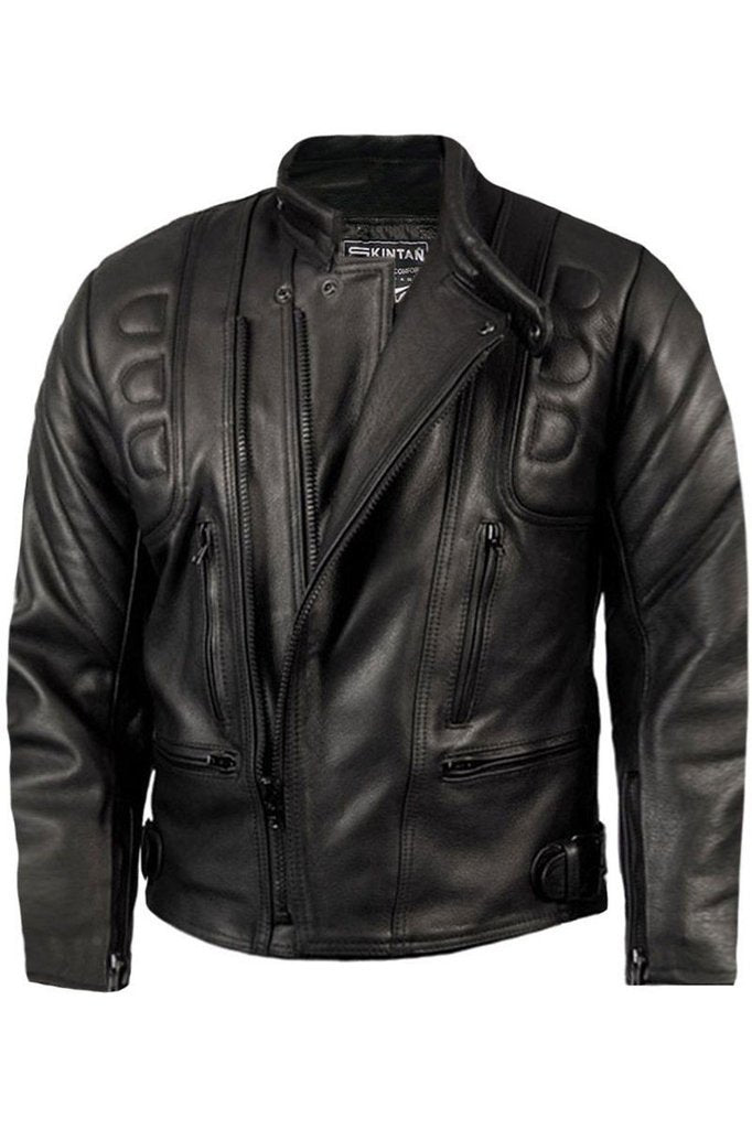 Limo Biker Jacket-Skintan Leather-Dark Fashion Clothing
