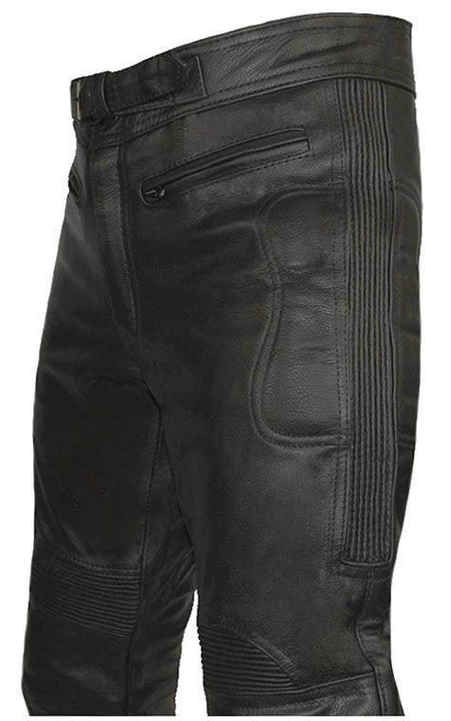 Limo Motorcycle Trousers - CE Armoured-Skintan Leather-Dark Fashion Clothing