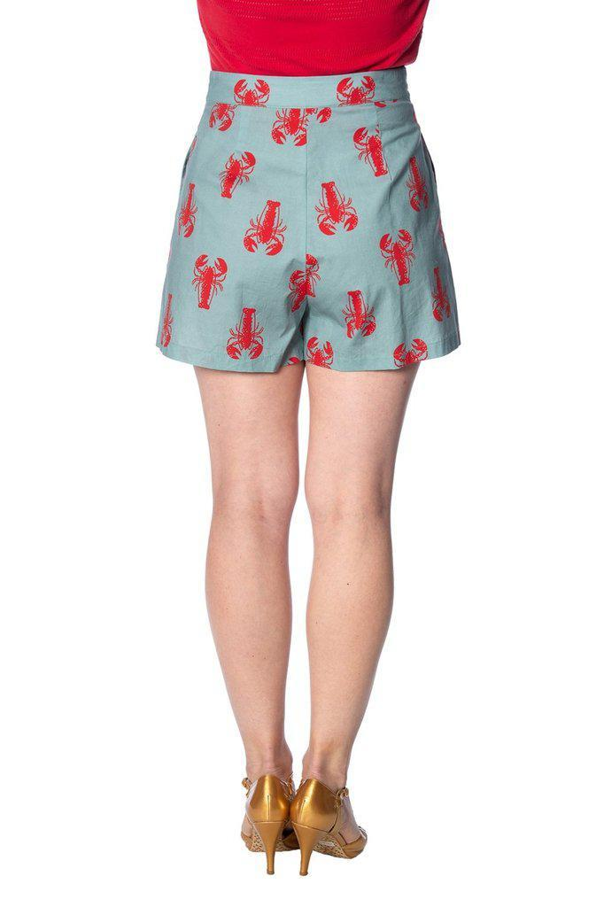 Lobster Love Shorts-Banned-Dark Fashion Clothing