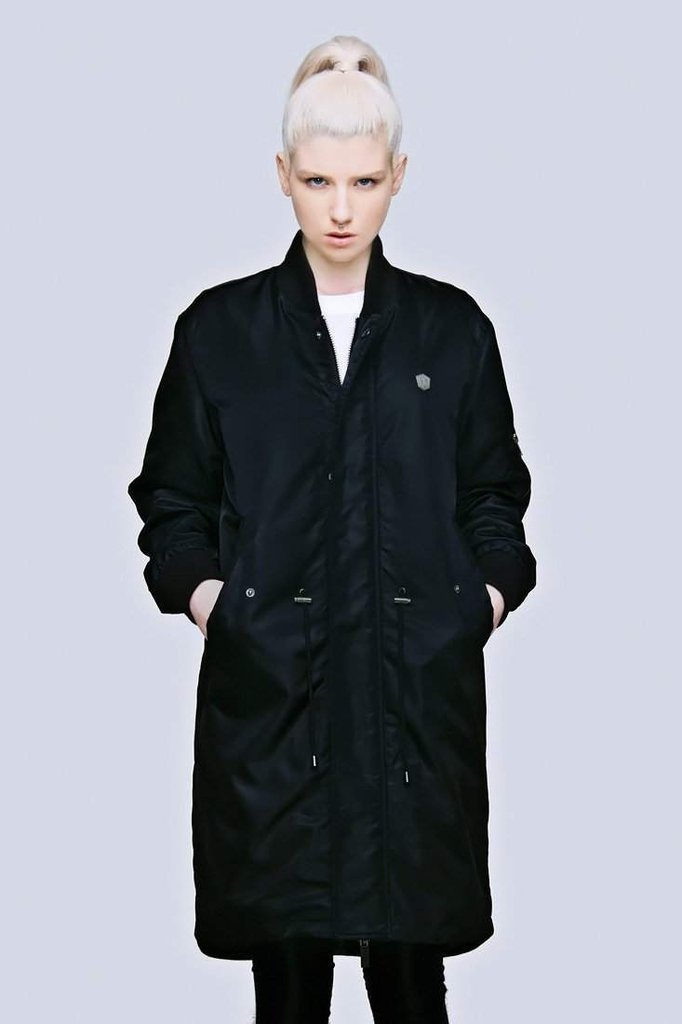 Long Fit MA1 Jacket - Unisex-Long Clothing-Dark Fashion Clothing