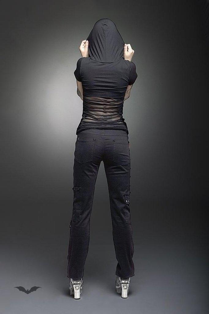 Long Trousers With Zipper Applications-Queen of Darkness-Dark Fashion Clothing