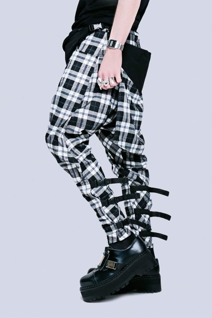 Long x Orphanage Tartan Clip Pants - Unisex-Long Clothing-Dark Fashion Clothing