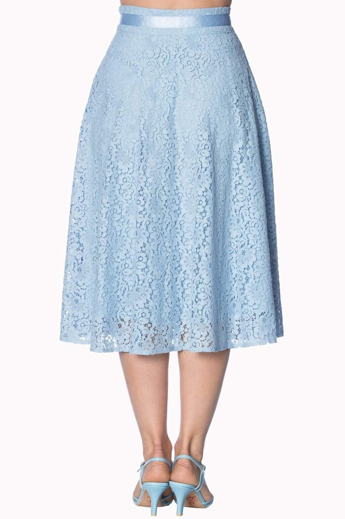Love Lace Skirt-Banned-Dark Fashion Clothing