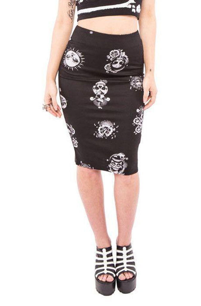 Luna Pencil Skirt-Iron Fist-Dark Fashion Clothing