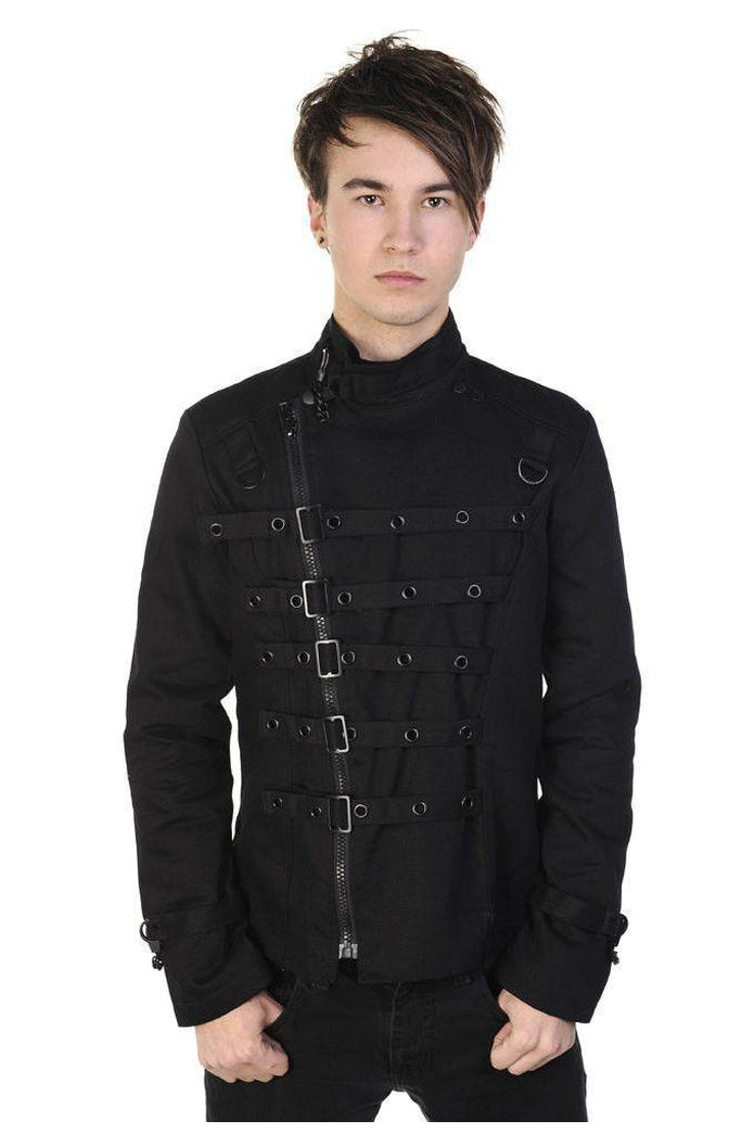 Metal Cuff Jacket-Banned-Dark Fashion Clothing