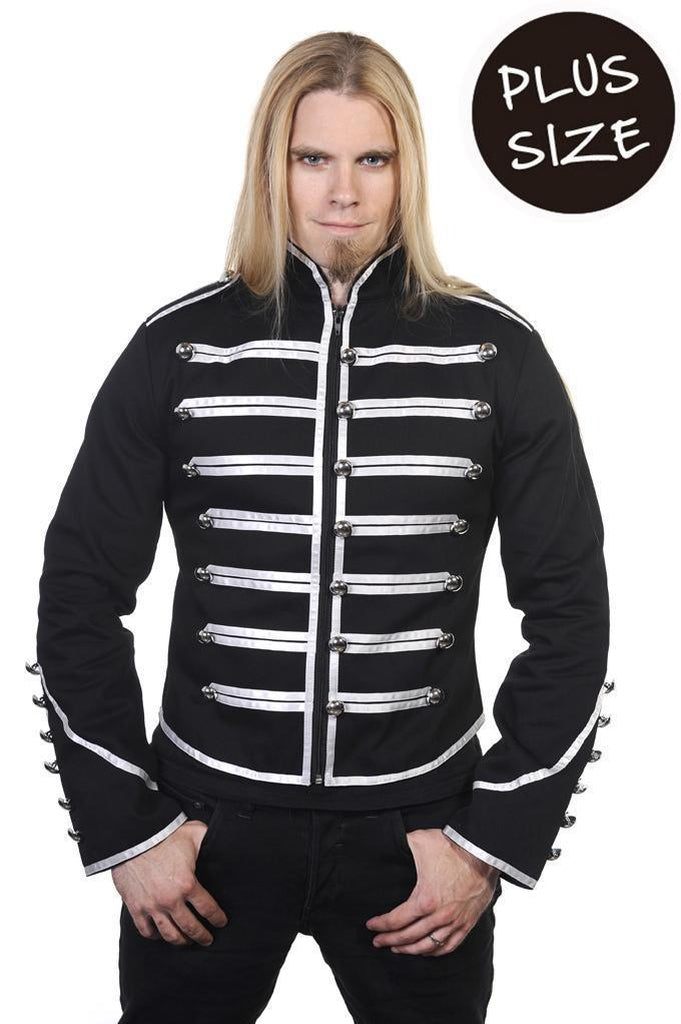 Military Drummer Jacket Plus Size-Banned-Dark Fashion Clothing