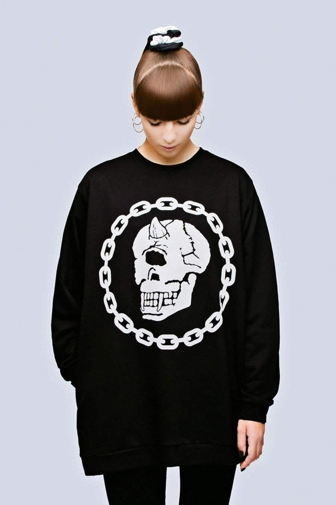 Mishka Cyclops Skull Chain Sweater - Unisex
