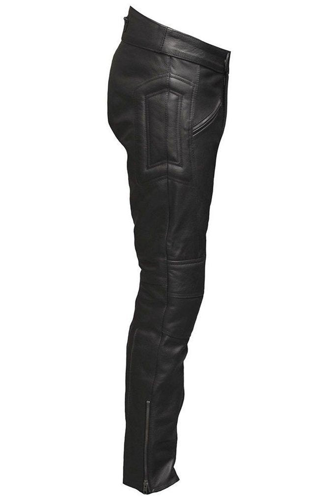 new york authentic quality lace up in Skintan Leather Monza Biker Trousers - CE Armoured - Dark ...