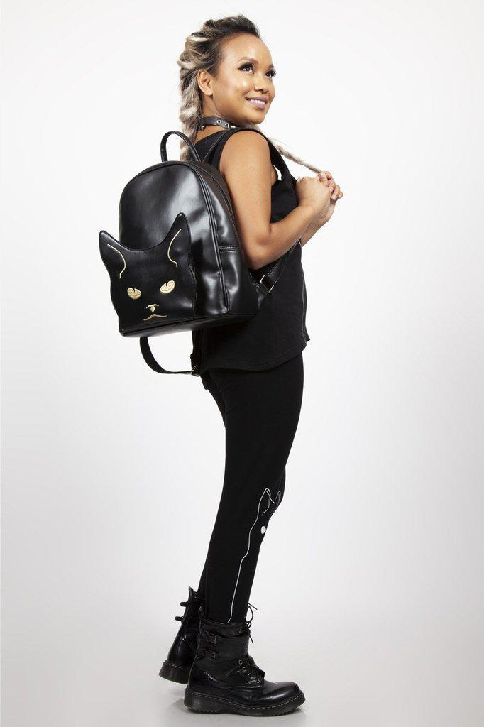Moody Cat Backpack-Jawbreaker-Dark Fashion Clothing